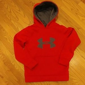 Under Armour Youth Red/Gray Pullover Hoodie